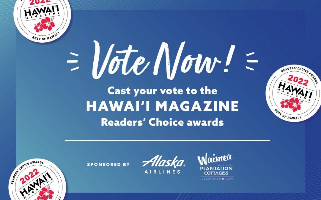 Help Original Magoo's Pizza win Hawaii Magazine's 2022 Reader's Choice Awards!